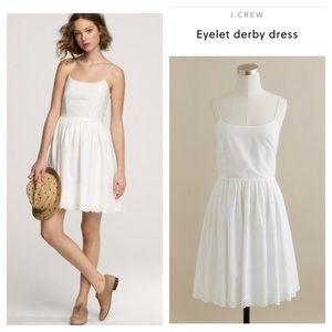 JCrew eyelet derby dress white 100 cotton